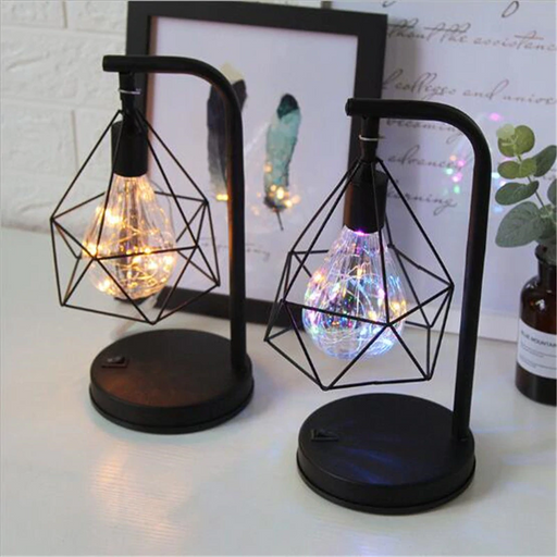 Retro Style Atmosphere Light Metal Table Lamp