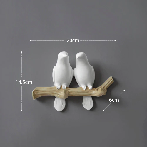 Resin Bird Wall Decor Hanger