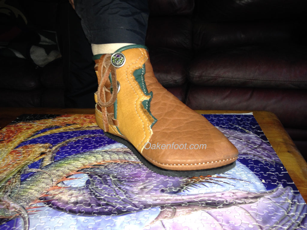 """Garden"" Ankle Tall Faire Moccasins"