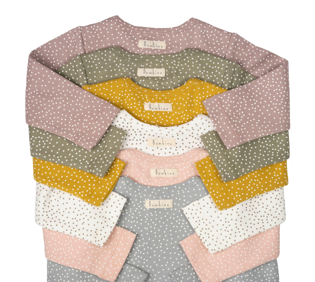 Ochre Ditsy Dots Long Sleeve Bodysuit