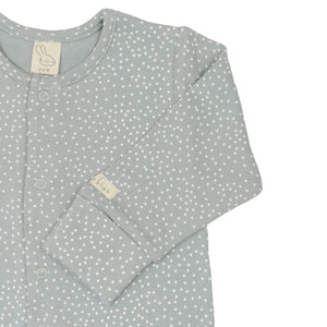 Slate Blue Ditsy Dots Footed Sleepsuit