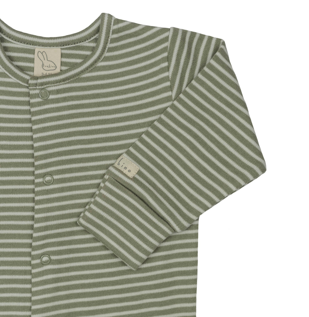 Forest Signature Stripes Sleepsuit