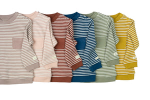 Ochre Signature Stripes Classic Jumper
