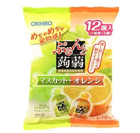 ORIHIRO Konjac Jelly Muscat Orange Pouch - TokyoMarketPH