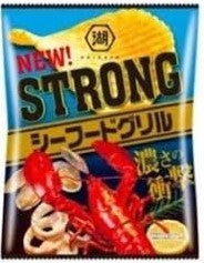 KOIKEYA Strong Potato Chips Seafoods Grill 56g