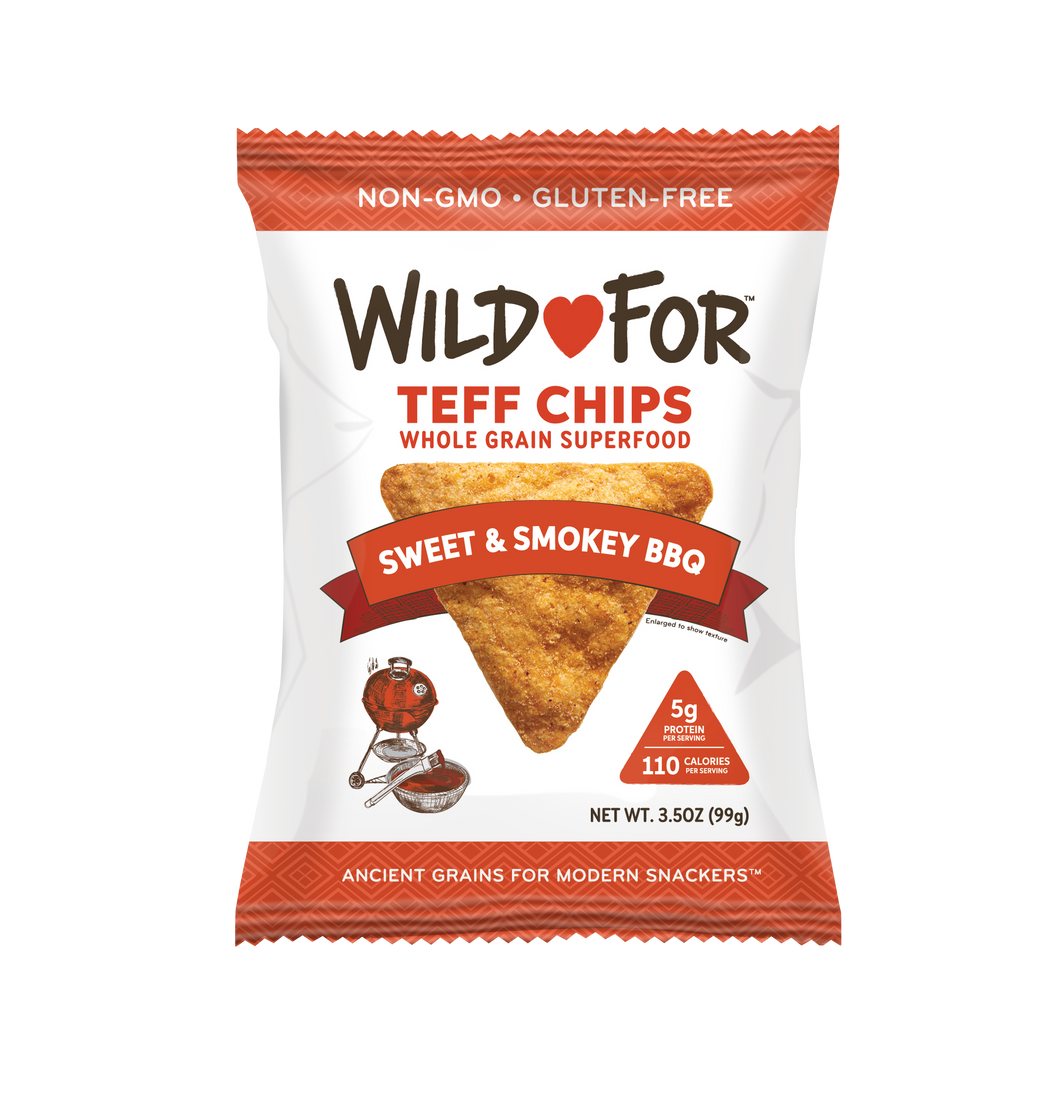 Teff Chips - BBQ - Three 3.5oz Packs