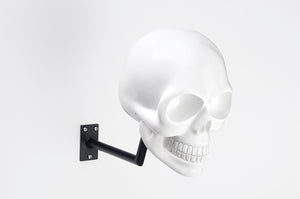 H-Skull Support pour casque Shiny White