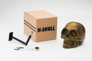 H-Skull Support pour casque Antik Gold