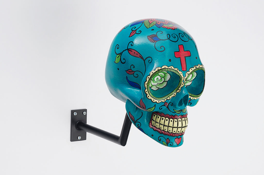 H-Skull Support pour casque Mexican Blue