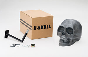 H-Skull Support pour casque Antik Silver