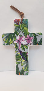 Cross - Ceramic Small - Tropical