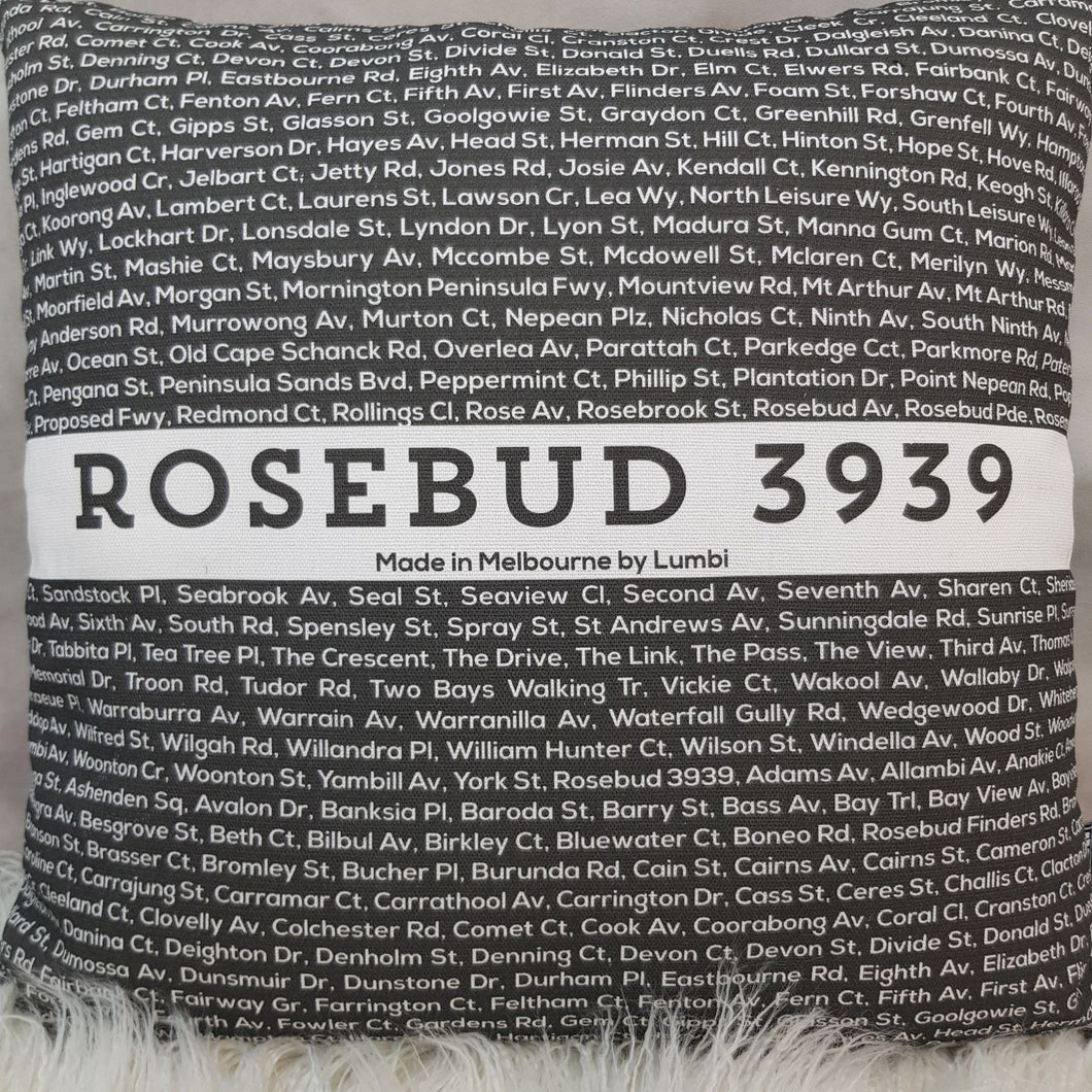 Cushion - Postcode: Rosebud
