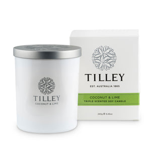 Tilley - Soy Candle - Coconut & Lime 240g
