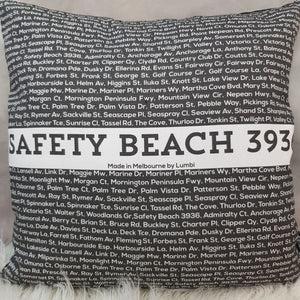 Cushion - Postcode: Safety Beach