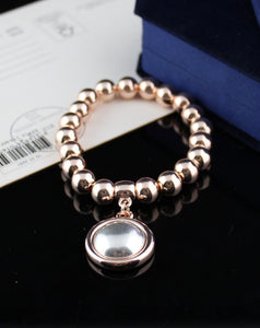 Rose Gold Bracelet with Disc Charm