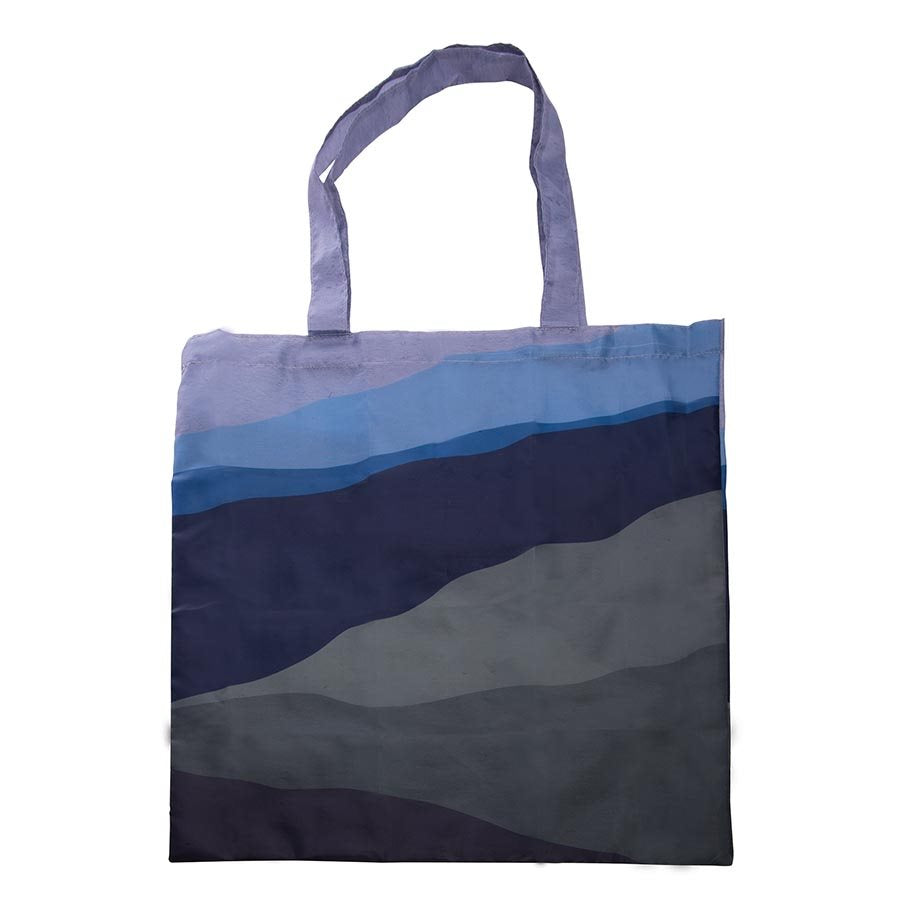 Foldable Shopper - Blue Abstract