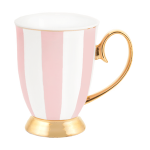 Mug  - Blush & Ivory Stripe