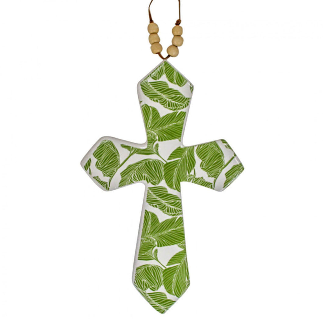 Hanging Beaded Cross Tropic Large