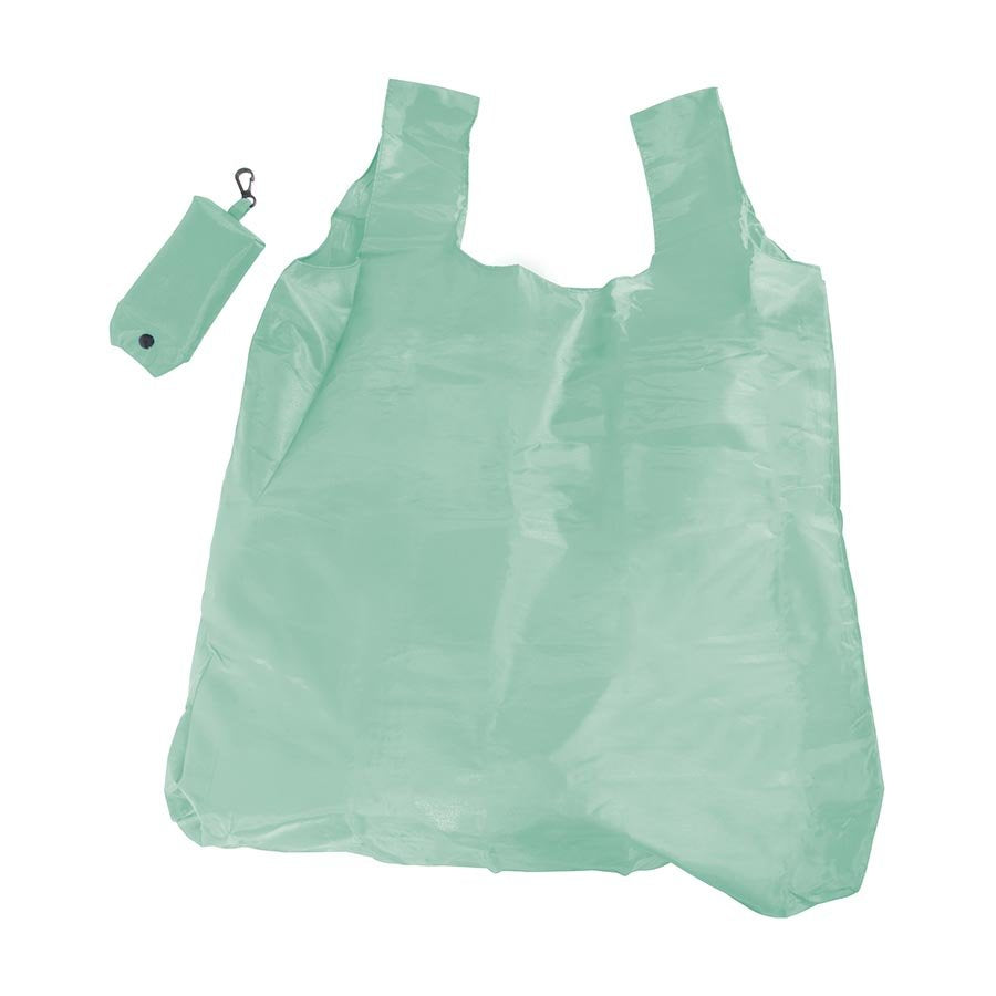 Foldable Shopper with Clip - Green