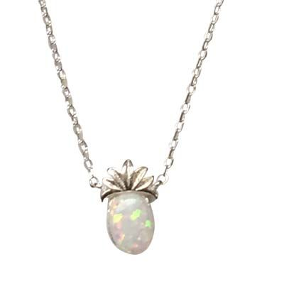 Opal Necklace - Pineapple/White