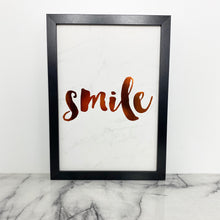 Load image into Gallery viewer, Framed Quote - Smile