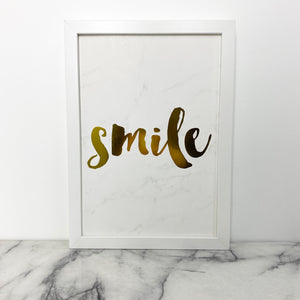 Framed Quote - Smile