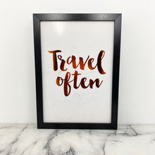 Load image into Gallery viewer, Framed Quote - Travel Often