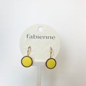Round Drop Earrings - Yellow/Gold