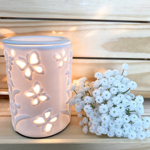 Oil Burner (Electric) - White Butterfly