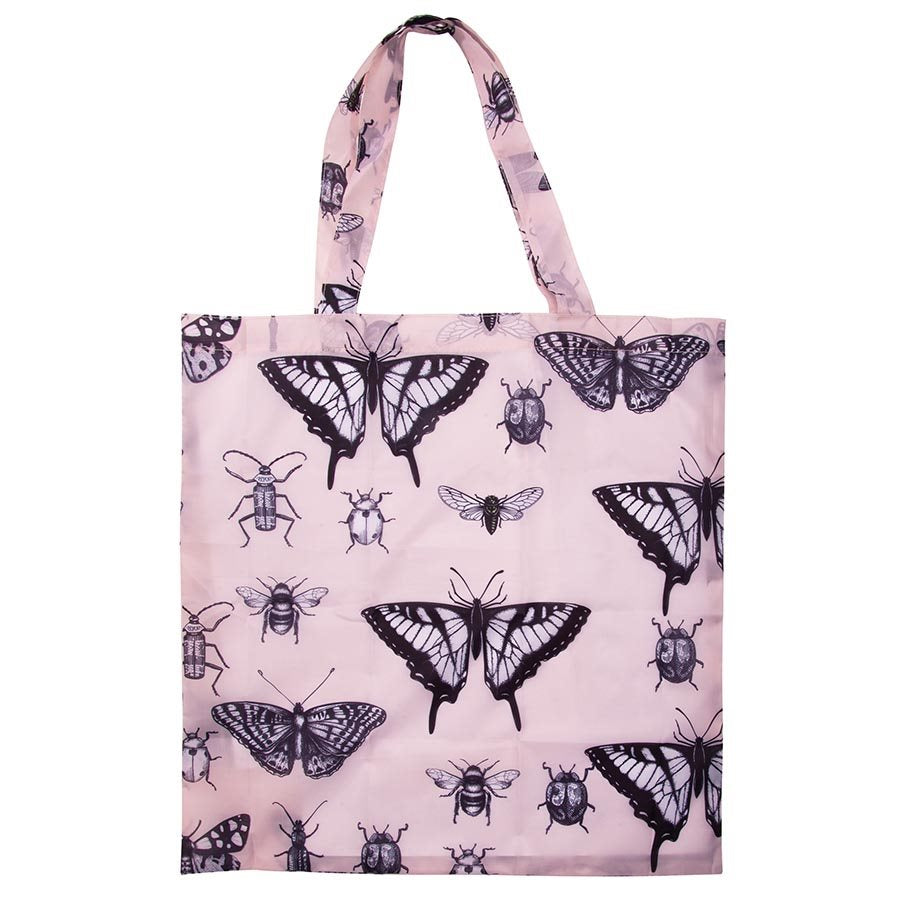 Foldable Shopper - Pink Insects
