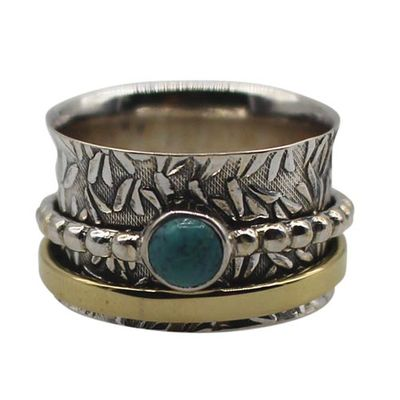 Sterling Silver Spinning Ring - Size 8