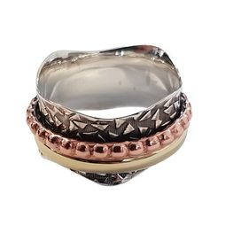 Sterling Silver Spinning Ring - Size 9