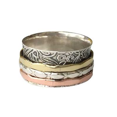 Sterling Silver Spinning Ring - Size 7