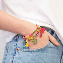 Load image into Gallery viewer, Charm Bracelet Stack - Happiness