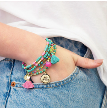Load image into Gallery viewer, Charm Bracelet Stack - Hello Gorgeous
