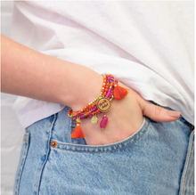 Load image into Gallery viewer, Charm Bracelet Stack - Miracle Maker