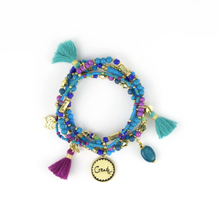 Load image into Gallery viewer, Charm Bracelet Stack - Persian Moonlight