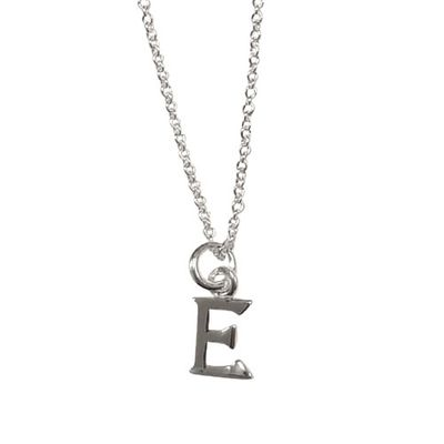 Sterling Silver Necklace - Letter E