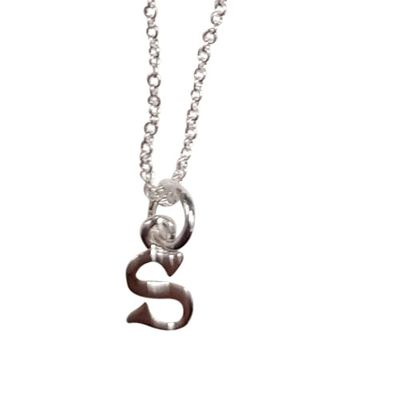 Sterling Silver Necklace - Letter S