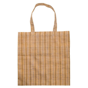 Foldable Shopper - Stick Woven