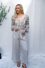 Load image into Gallery viewer, Tanya - Tie Front Linen Pants