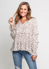 Load image into Gallery viewer, Tia - Pleated Front Long Sleeved Top