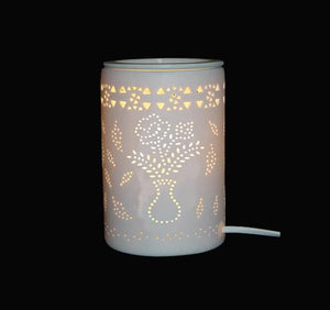 Oil Burner (Electric) - White Vase