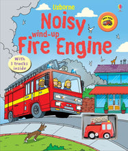 Load image into Gallery viewer, Wind-Up Fire Engine Book (Board)