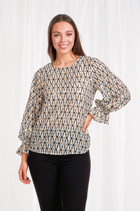 Foil Printed Blouse
