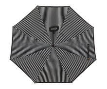Load image into Gallery viewer, Reverse Umbrella - Black & White Pin Stripe