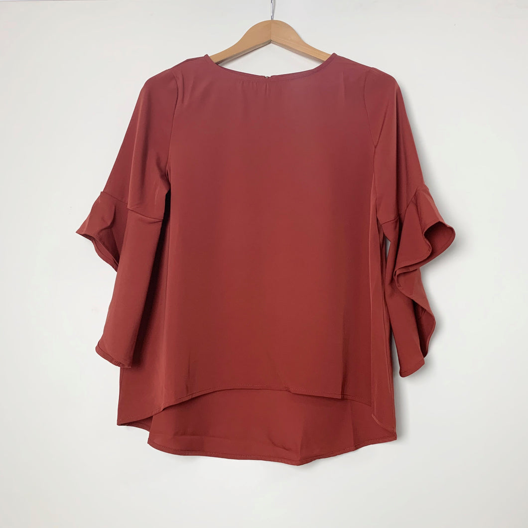 Blouse - Fluted 3/4 Sleeve