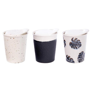 Double Walled Ceramic eCup - Small Leaf