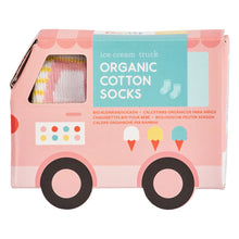 Load image into Gallery viewer, Organic Toddler Socks - Ice Cream Truck