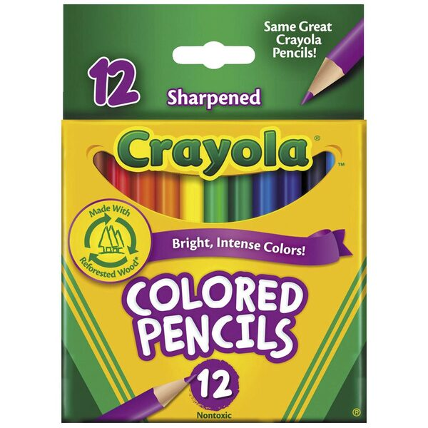Crayola Mini Colouring Pencils - 12pk